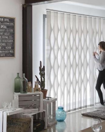 cortinas verticales con ondas - Antiga Casa Reus